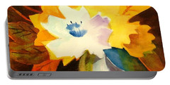 Abstract Flowers 2 Portable Battery Charger by Marilyn Jacobson