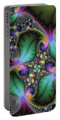 Abstract Fractal Art With Jewel Colors Portable Battery Charger