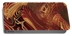Abstract Artwork Gold 3 Portable Battery Charger