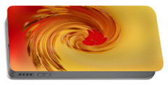Portable Battery Charger featuring the photograph Abstract Swirl Hibiscus Flower by Debbie Oppermann