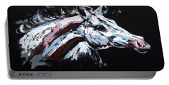 Abstract Horse Portable Battery Charger