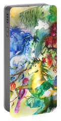 Abstract Horses Portable Battery Charger