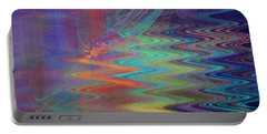 Abstract In Blue And Purple Portable Battery Charger