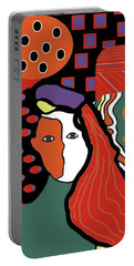 Abstract Lady Portable Battery Charger