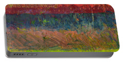 Abstract Landscape Series - Lake And Hills Portable Battery Charger by Michelle Calkins