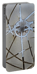 Abstract Metal Pouring Portable Battery Charger