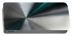 Abstract Metallic Texture With Blue Rays. Portable Battery Charger