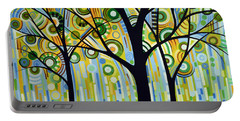 Abstract Modern Tree Landscape Spring Rain By Amy Giacomelli Portable Battery Charger by Amy Giacomelli