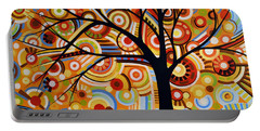 Abstract Modern Tree Landscape Thoughts Of Autumn By Amy Giacomelli Portable Battery Charger by Amy Giacomelli