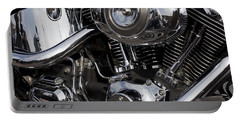 Abstract Motorcycle Engine Portable Battery Charger