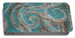 Abstract Octopus Portable Battery Charger by Tamyra Crossley