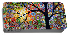 Abstract Original Modern Tree Landscape Visons Of Night By Amy Giacomelli Portable Battery Charger by Amy Giacomelli