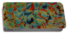 Portable Battery Charger featuring the photograph Abstract Rose Petals by Mae Wertz