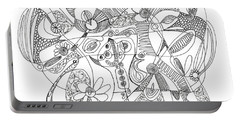 Abstract Pen Drawing Thirty-eight Portable Battery Charger