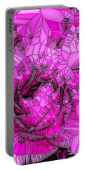 Abstract Pink Rose Mosaic Portable Battery Charger