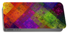 Abstract - Rainbow Infusion - Square Portable Battery Charger by Andee Design