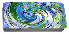 Abstract Reflections Digital Art #3 Portable Battery Charger