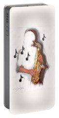 Abstract Saxophone Player Portable Battery Charger