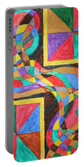 Portable Battery Charger featuring the painting Alien By Windows by Stormm Bradshaw