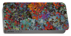 Portable Battery Charger featuring the mixed media Abstract Spring by Ally  White