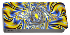 Abstract Spun Flower Portable Battery Charger