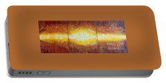 Portable Battery Charger featuring the painting Abstract Sunset by Teresa Wegrzyn