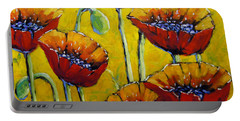 Abstract Sweet Poppies By Prankearts Portable Battery Charger