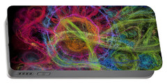 Portable Battery Charger featuring the digital art Abstract Virus Budding Painterly 1 by Russell Kightley