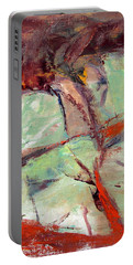 Abstract With Cadmium Red Portable Battery Charger by Betty Pieper