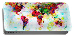 Abstract World Map Portable Battery Charger