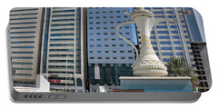 Portable Battery Charger featuring the photograph Abu Dhabi Al Ittihad Square by Steven Richman