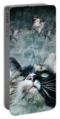 Abyss Cat Nr 2 Portable Battery Charger by Laura Melis