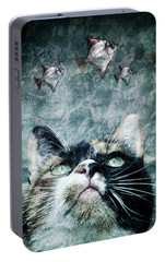 Portable Battery Charger featuring the photograph Abyss Cat Nr 2 by Laura Melis