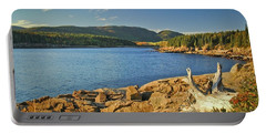 Portable Battery Charger featuring the photograph Acadia Otter Cove by Alana Ranney