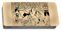 Portable Battery Charger featuring the painting Archery In Oxboar by Reynold Jay