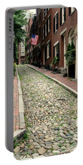 Acorn Street Boston Portable Battery Charger by Kenny Glotfelty