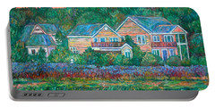 Portable Battery Charger featuring the painting Across The Marsh At Pawleys Island       by Kendall Kessler