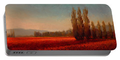 Across The Tulip Field - Horizontal Landscape Portable Battery Charger