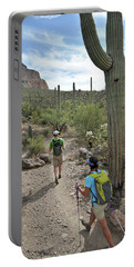 Active Couple Hikes Around Picketpost Portable Battery Charger
