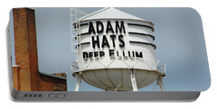 Portable Battery Charger featuring the photograph Adam Hats In Deep Ellum by Charlie and Norma Brock