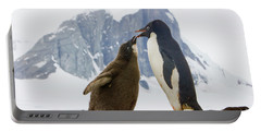 Adelie Penguin Chick Begging For Food Portable Battery Charger