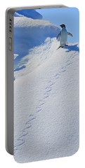Adelie Penguin On Bergie Bit Portable Battery Charger