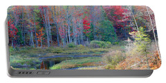 Adirondack Fall Portable Battery Charger by Mariarosa Rockefeller