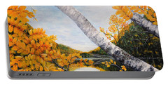 Adirondacks New York Portable Battery Charger by Holly Carmichael