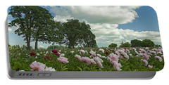 Adleman's Peony Fields Portable Battery Charger by Nick  Boren