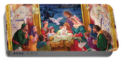 Adoring Angels Nativity Square Portable Battery Charger