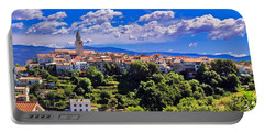 Adriatic Town Of Vrbnik Panoramic View Portable Battery Charger
