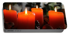 Portable Battery Charger featuring the photograph Advent Candles Christmas Candle Light by Paul Fearn