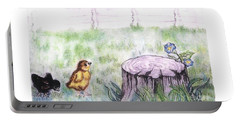 Adventurous Chicks Portable Battery Charger by Francine Heykoop