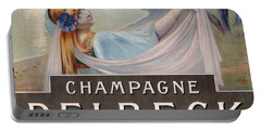 Advertisement For Champagne Delbeck Portable Battery Charger